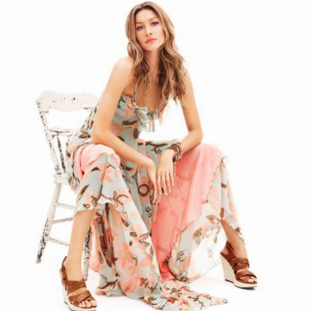 EU 34. XS. BNWOT H&M Gisele Bundchen Bohemian Deluxe Limited Edition Floral Maxi Dress
