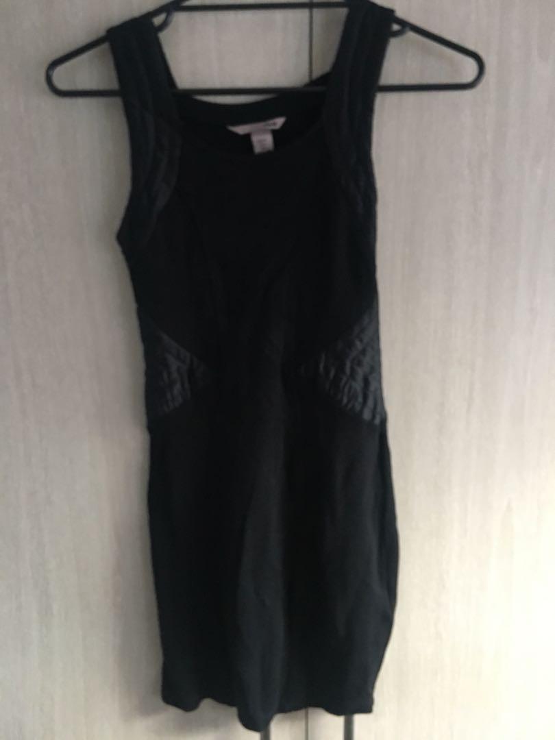 H&M size small mini bodycon black dress