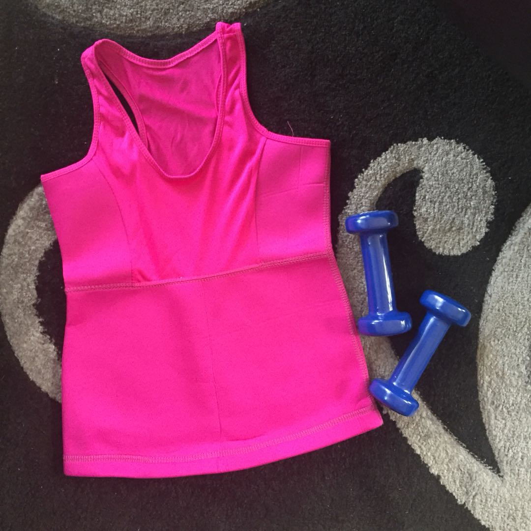 HQ Gym Workout Top with Built-in Body Shaper (Neoprene)