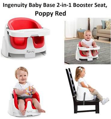 Ingenuity baby base 2 in 1 seat booster RED