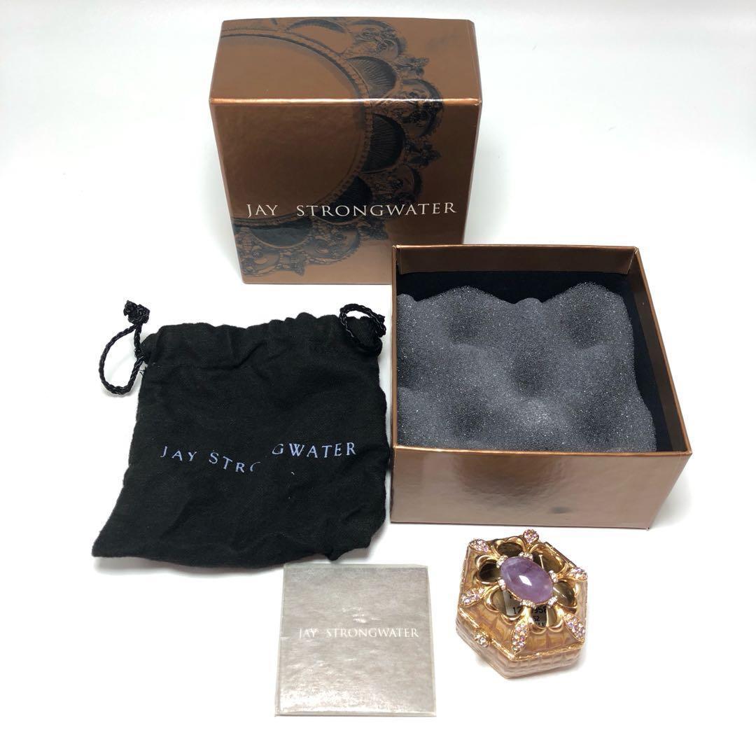 Jay Strongwater Pill Box GOLD Swarovski kotak