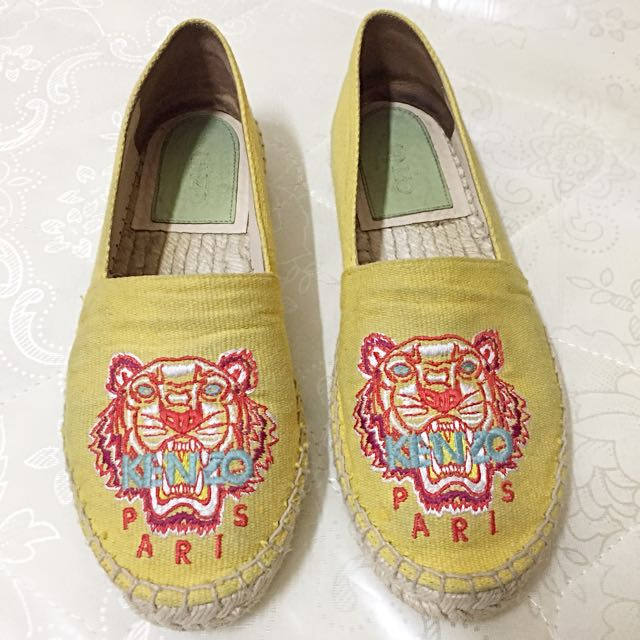 Kenzo Embroidered Canvas Espadrille
