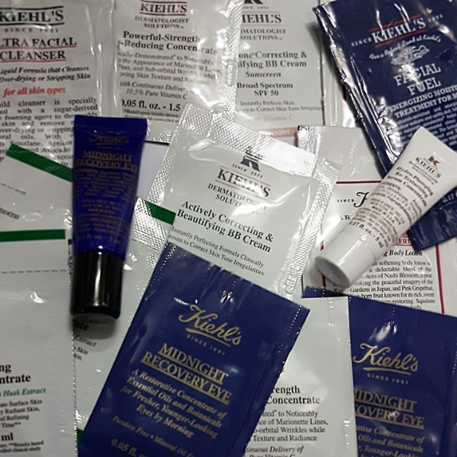 KIEHL'S SKINCARE BUNDLE SAMPLES (15PCS) TAKE ALL