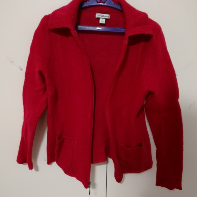 KNITTED WINTER RED JACKET