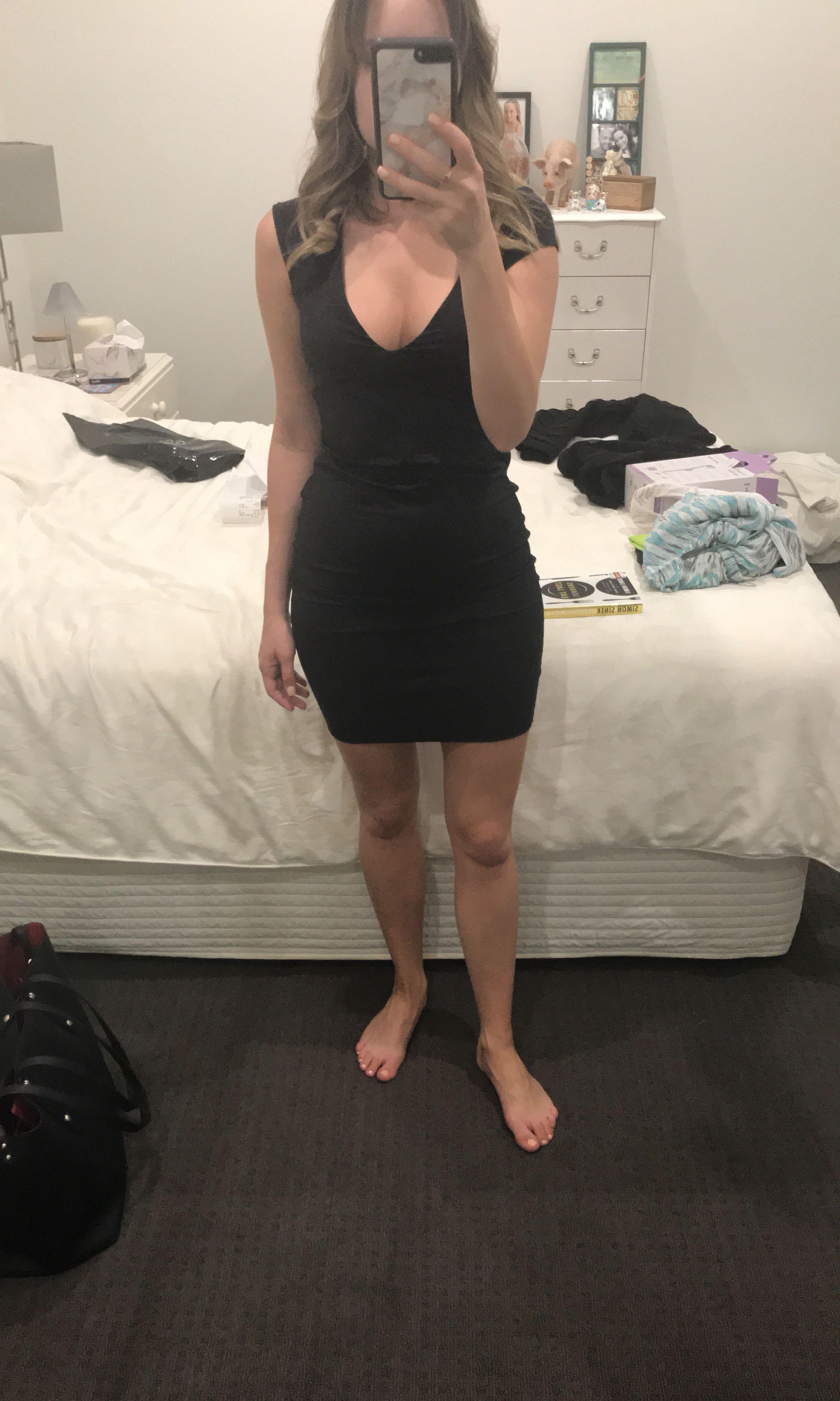 Kookai Black Dress - size 1