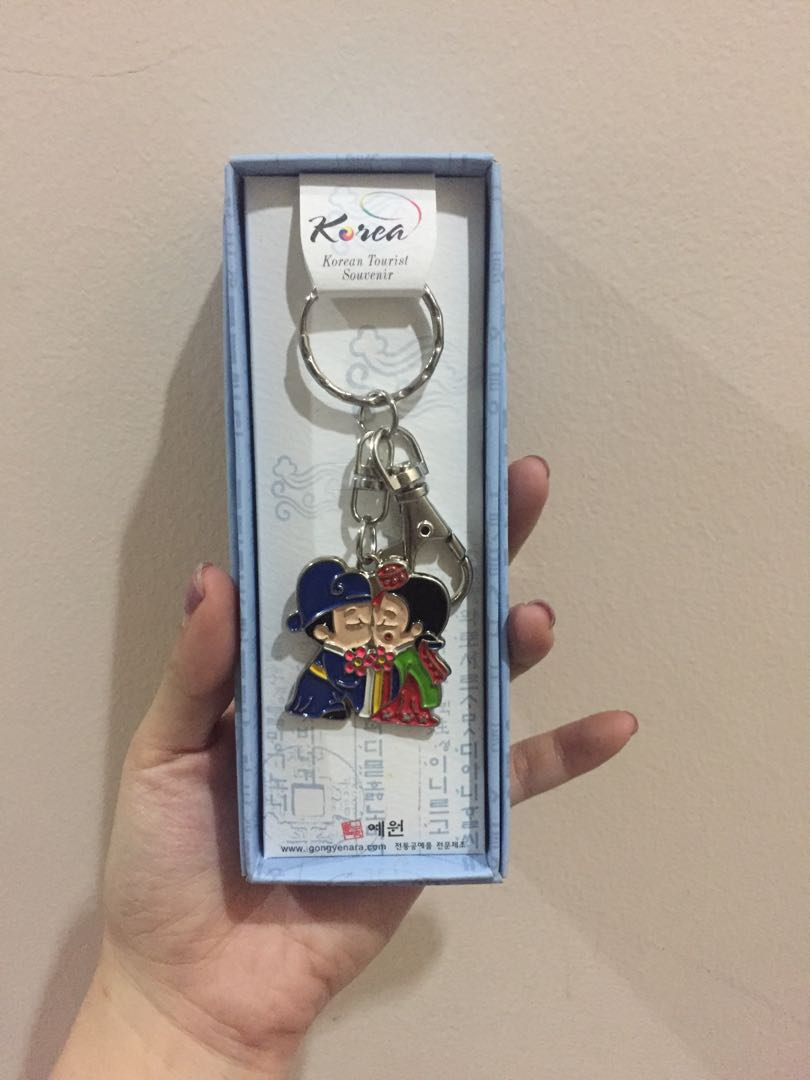 Korea couple keychain