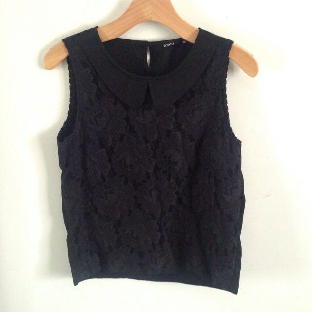 Lace black top
