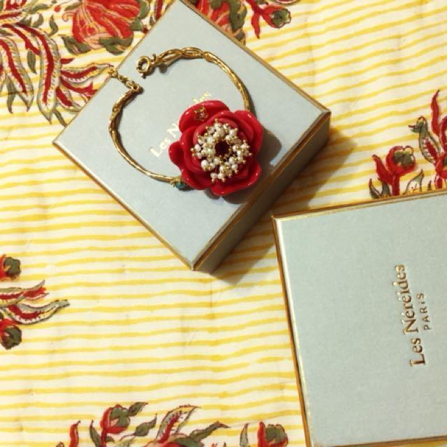 Les Nereides 珐瑯花朵手環