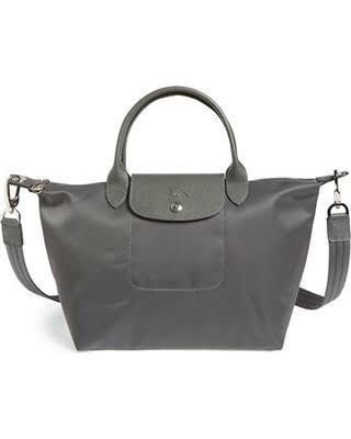 Longchamp 'Small Le Pliage Neo' Nylon Tote Grey