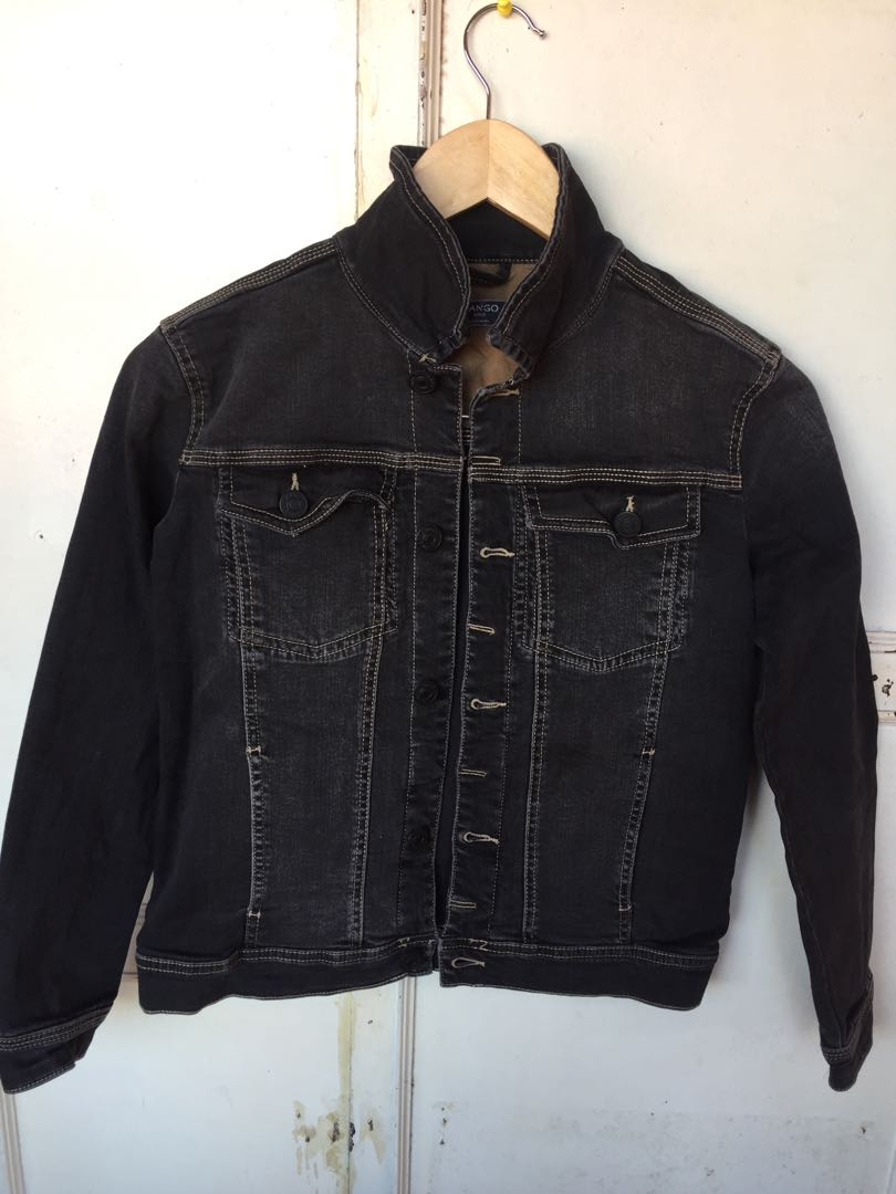 MANGO Denim Jacket  Light Black