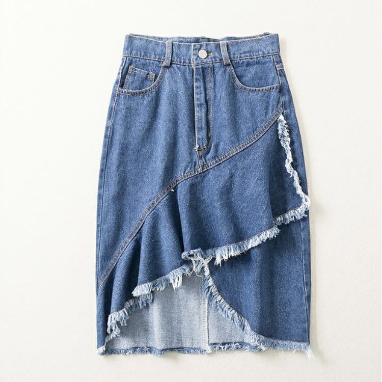 Mermaid Denim Skirt
