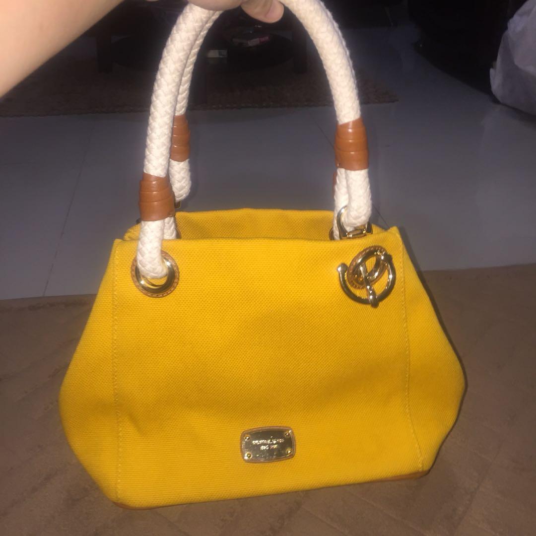 Michael Kors Marina Yellow tote handbag