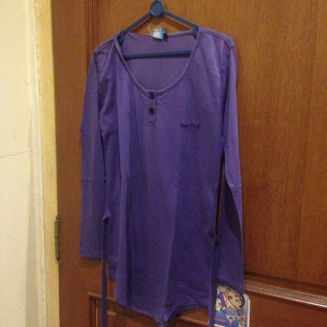 Moose Distro Long Sleeved Purple Top