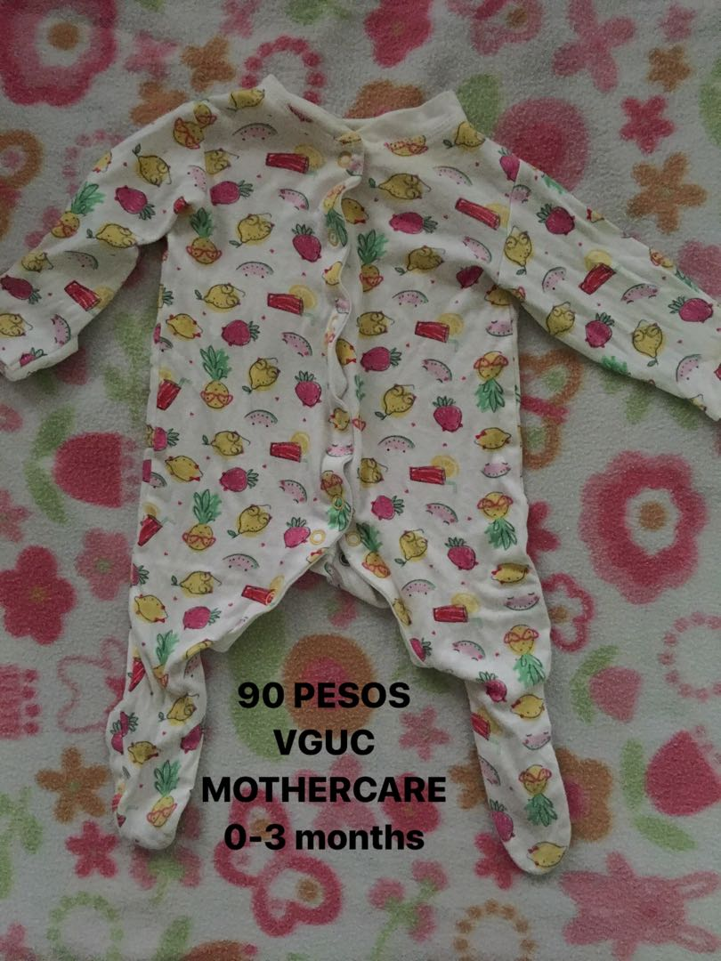 Mothercare frogsuits