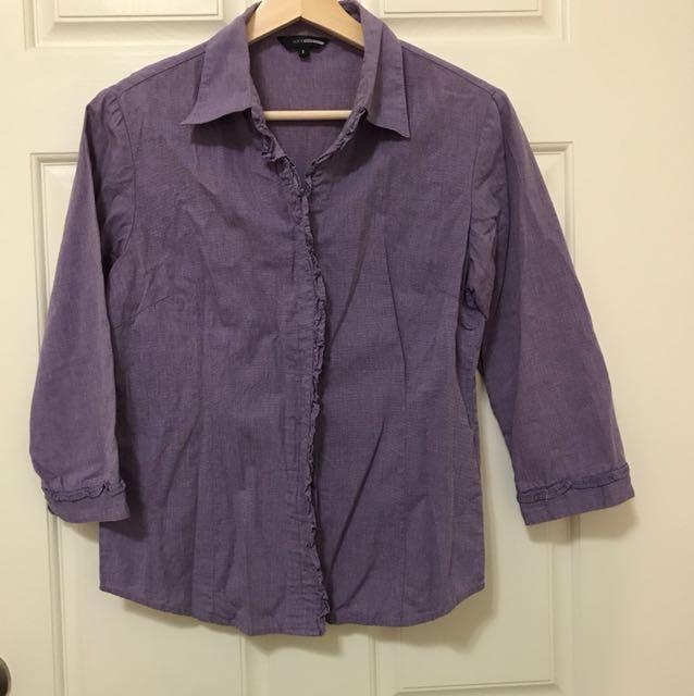 NET 紫色襯衫