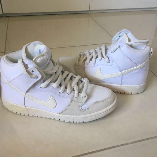 Nike white shoes