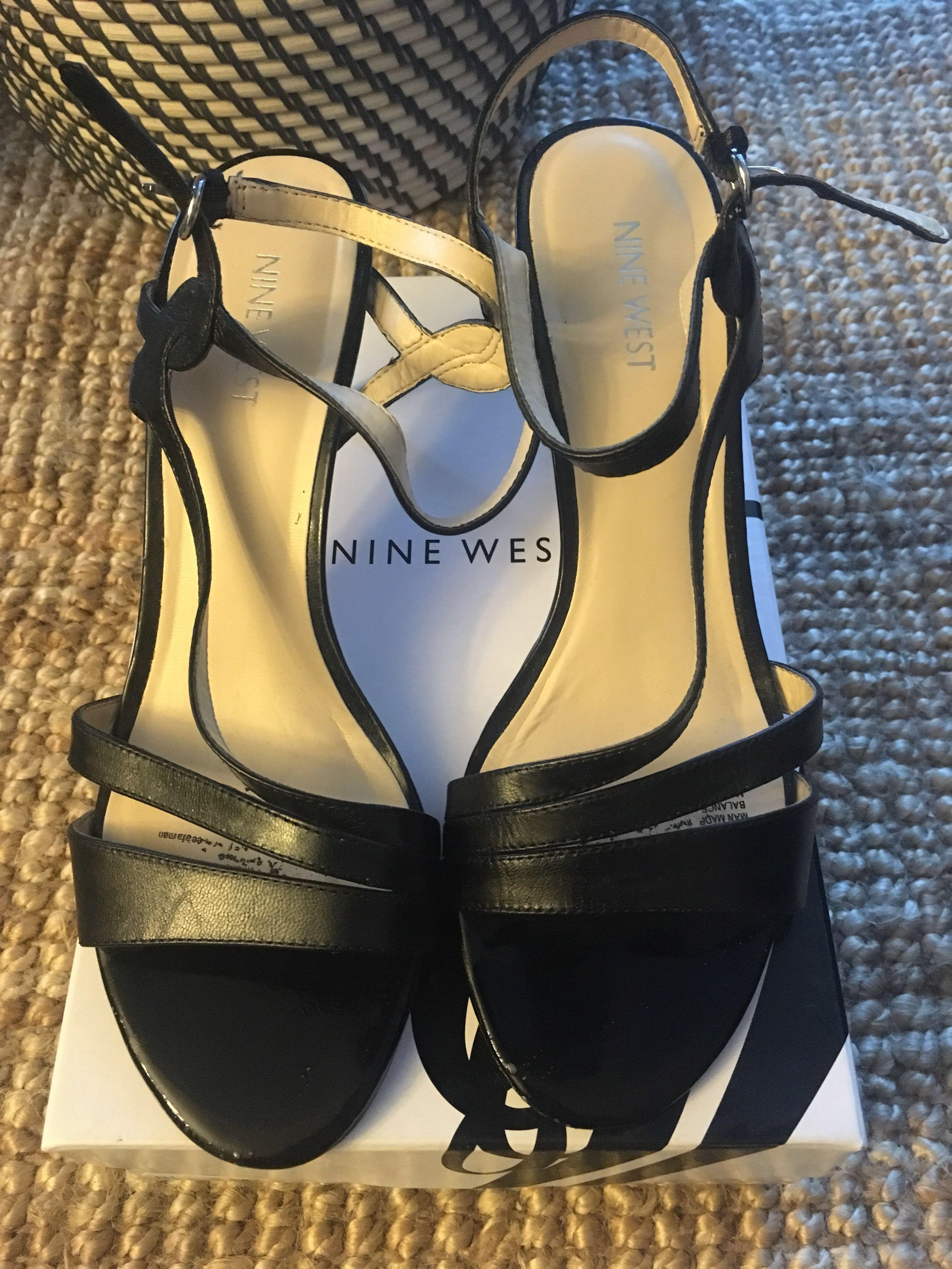 Nine West jarring leather dress sandal - size 8.5