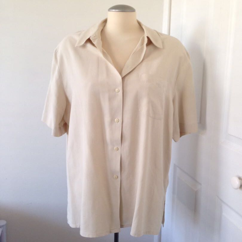 Off white button up shirt