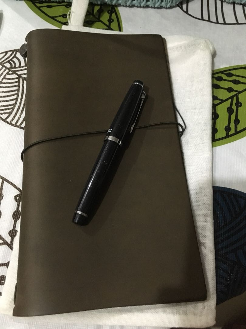 Olive Traveler's Notebook and Sailor Lecoule