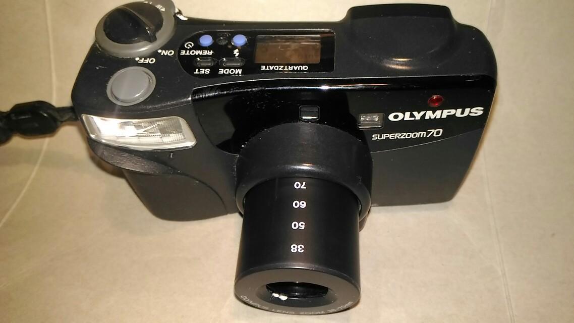 OLYMPUS底片相機,底片相機,古董相機,相機,攝影機~OLYMPUS底片相機(拍攝功能正常,贈送電池)