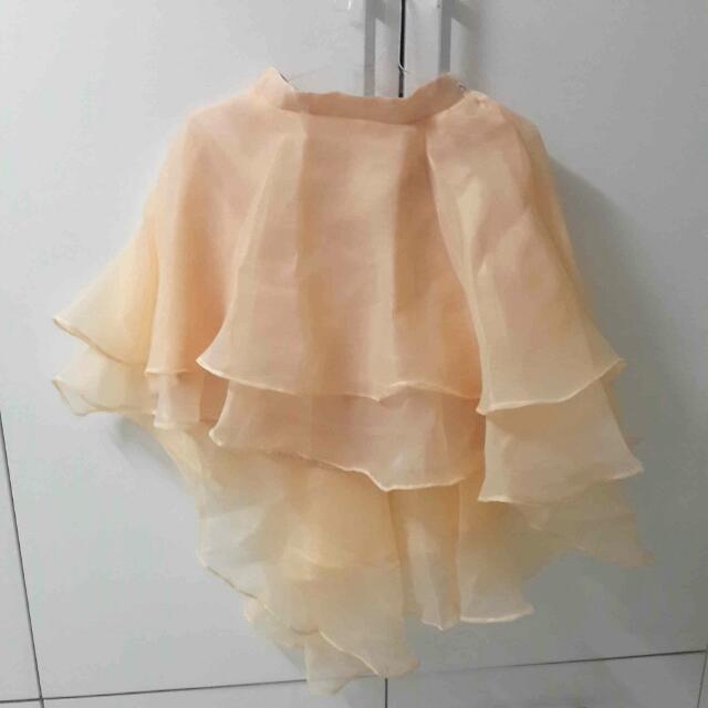 Peach Full Skirt