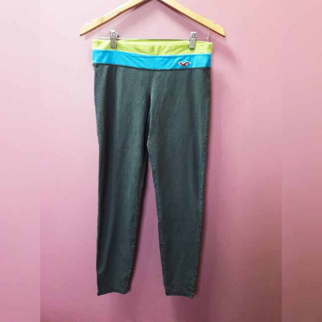 Pink and Gray Hollister Leggings