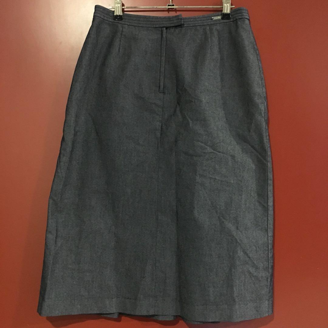 Pleated Dark Skirt