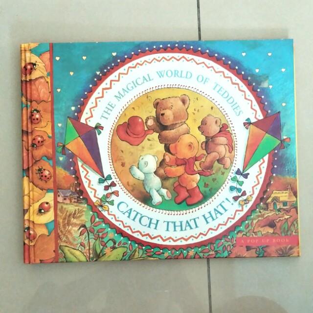 Pop Up Book For Nursery Kindergarten Children The Magical World Of Teddies Catch That Hat