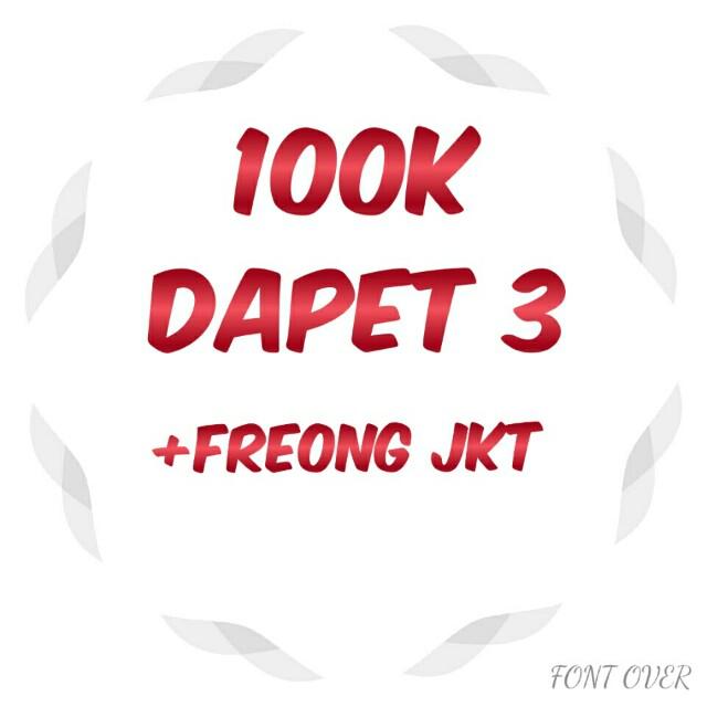 Promo 100k dapet 3 +Free Ongkir