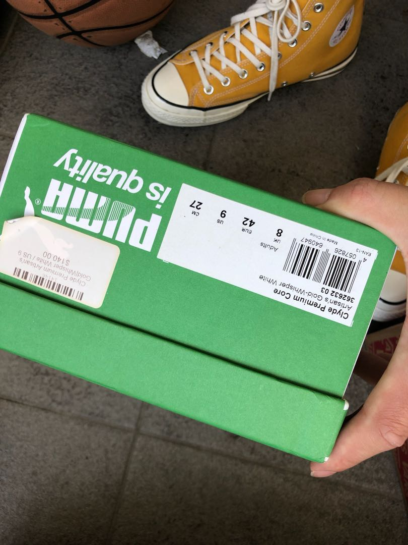Puma suede yellow size us9
