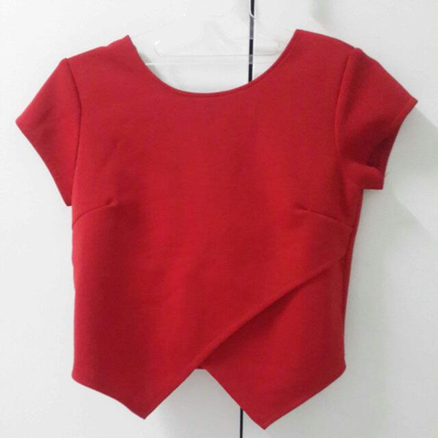 Red Ribbon Blouse (Free Ongkir)