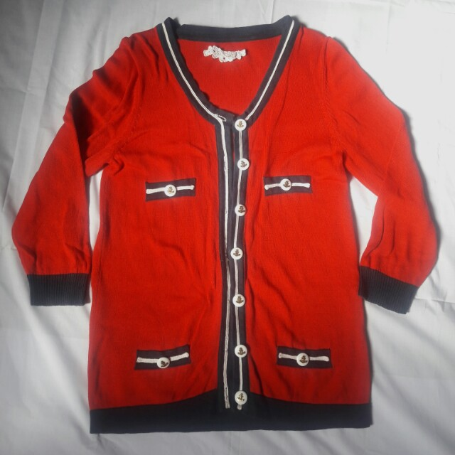 FREE SF! Red Stylish Cardigan