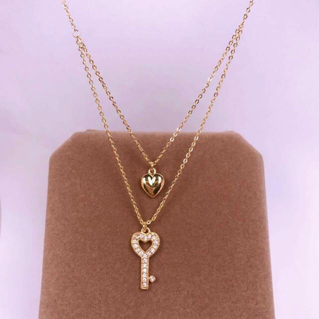 🌷rosegold double chain & pendant🌷