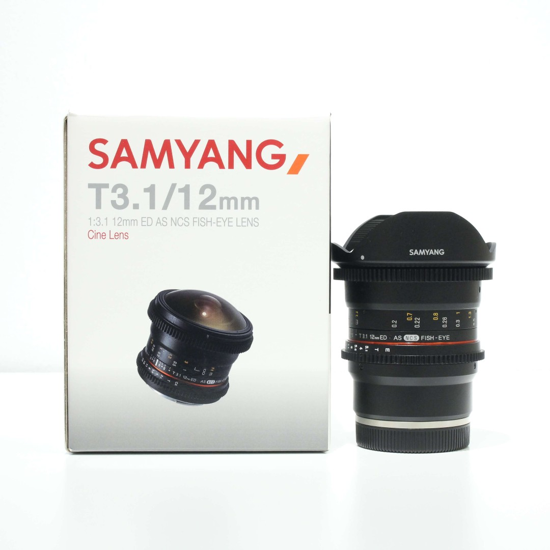 Samyang 12mm T3.1 VDSLR Cine Fisheye Lens for Sony E-Mount