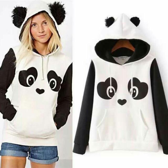 Sc: panda hoodie jacket