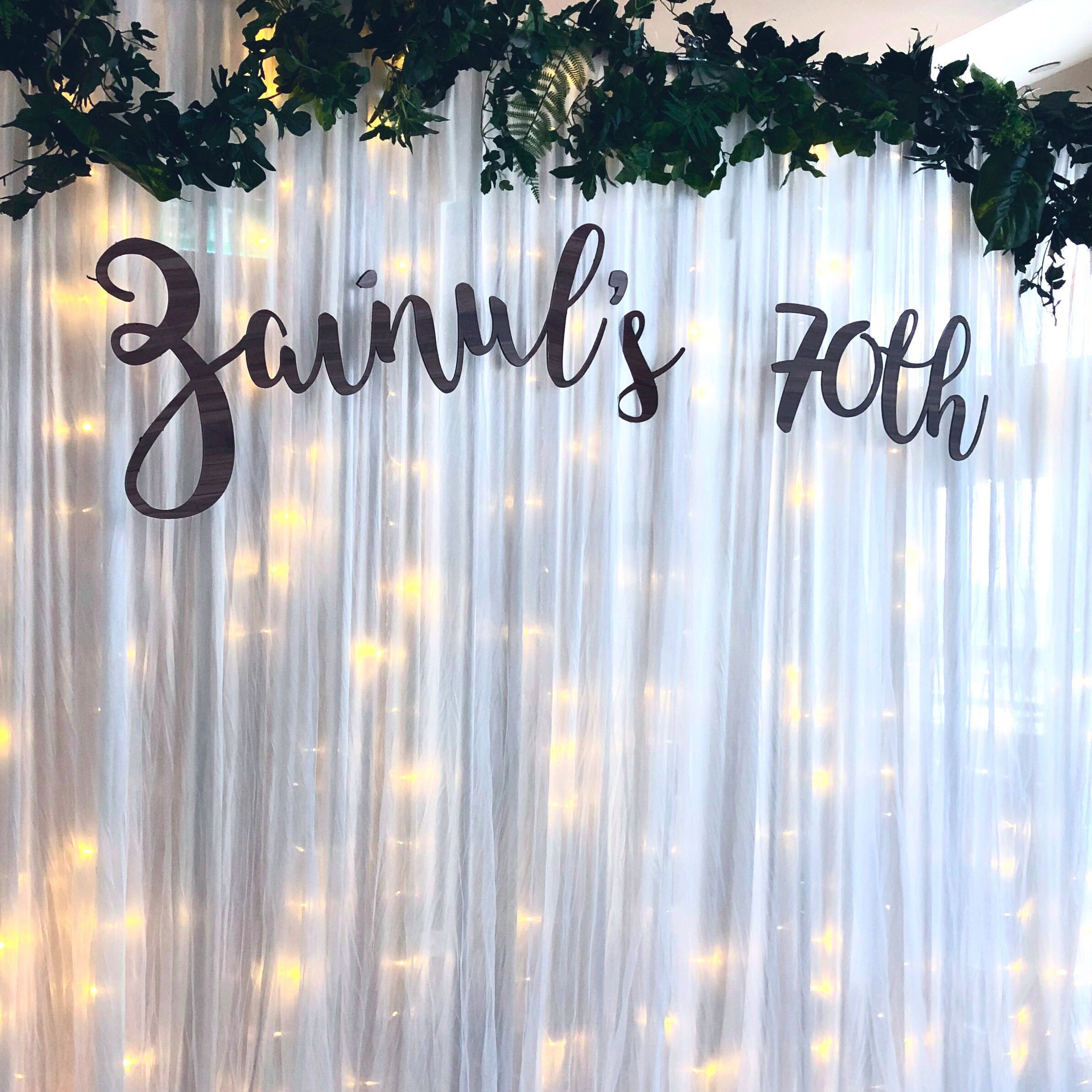[Sellabrations] Calligraphy Names Cutout - Foam Board