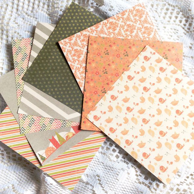 [Set of 8] Papier (Set #49) - Set of 8 Chic Papers.
