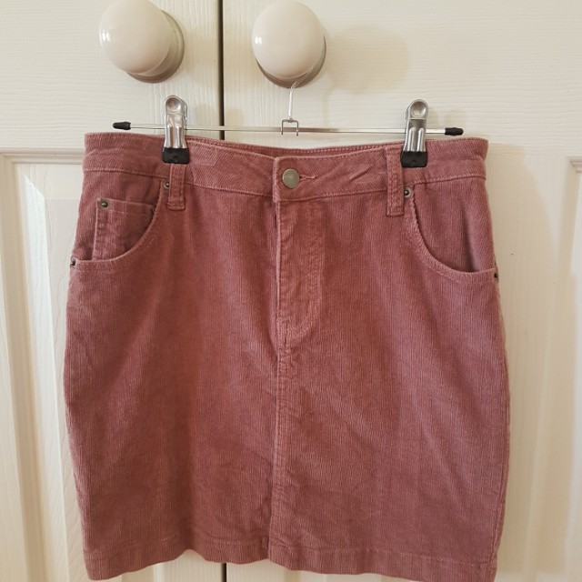 SIZE 10 CORDUROY MINI SKIRT