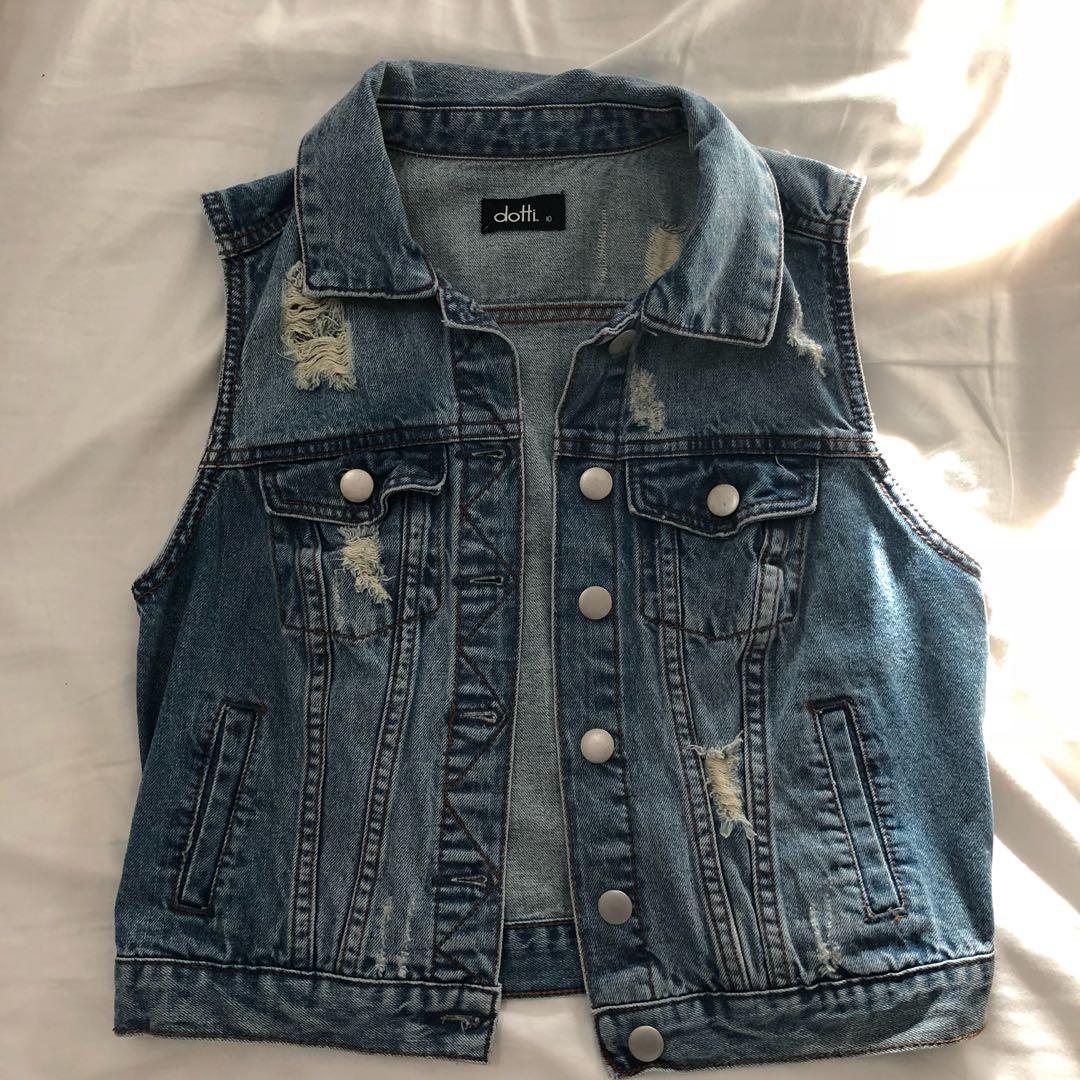 Size 10 DOTTI denim vest - perfect condition