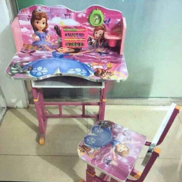 Sofia The First Study Table With Chair And Clock Babies Kids