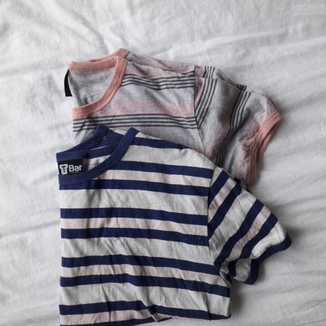 striped cropped tees