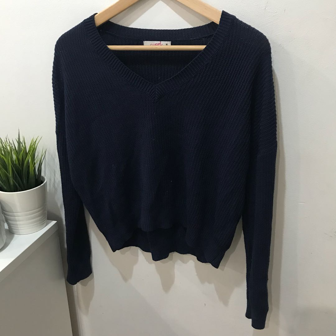 Supre Navy Blue Knitted Jumper - Size M