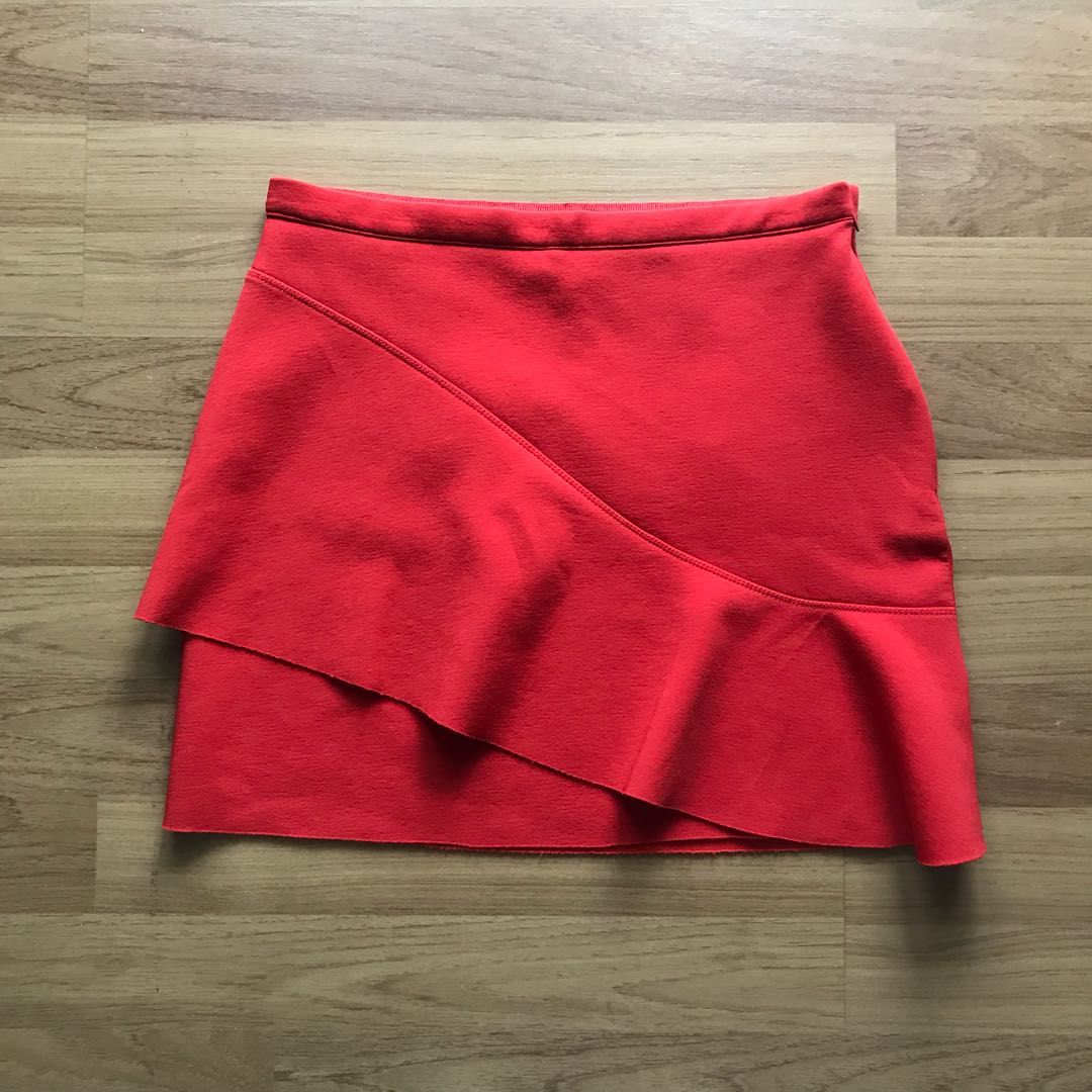 Topshop red skirt