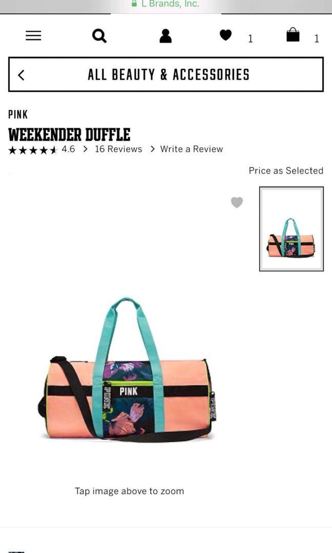 2041f437c2 Victoria s Secret Weekender Duffle Gym bag
