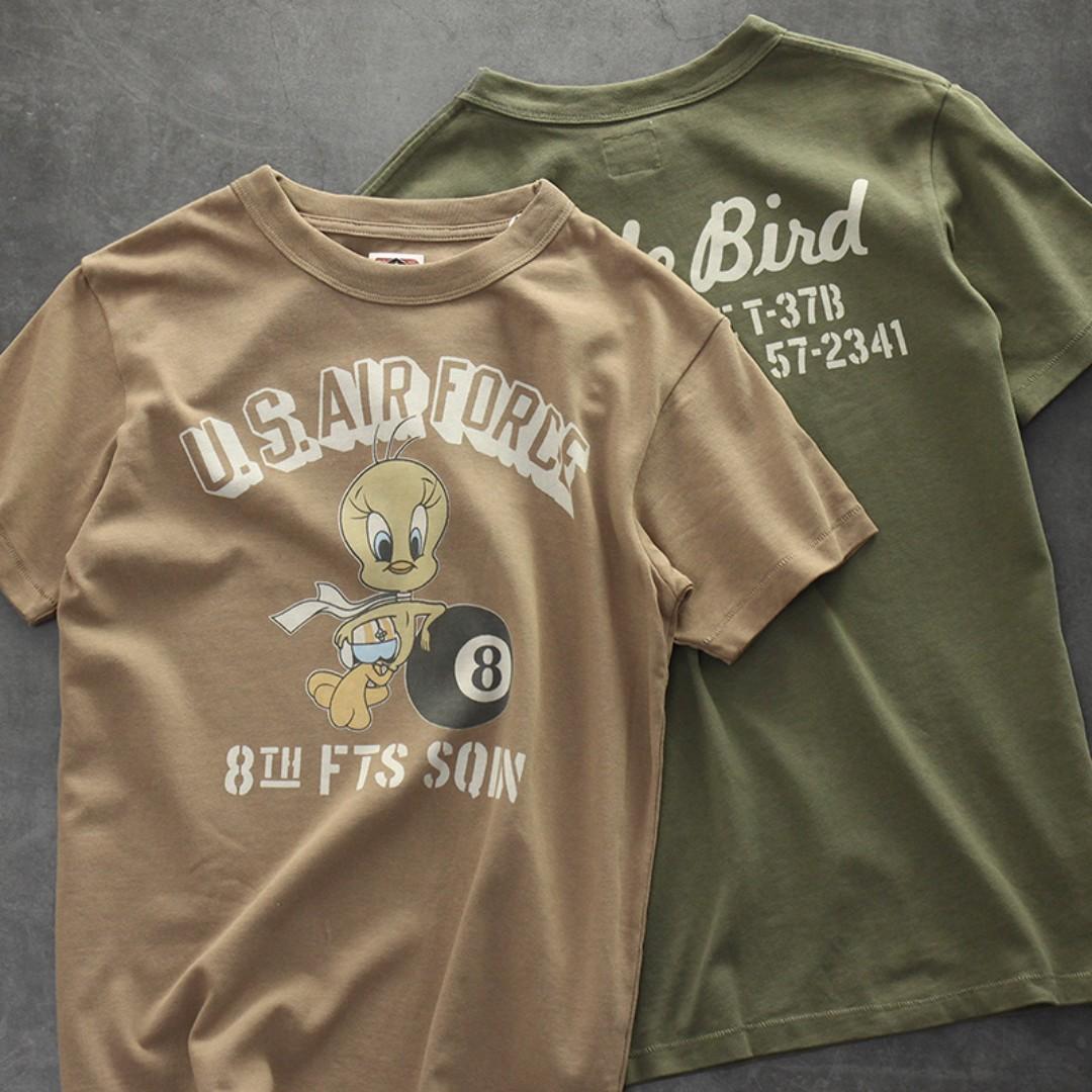 軍事vintage雙面印花重磅T-shirt 兩色預購 軍事仿舊
