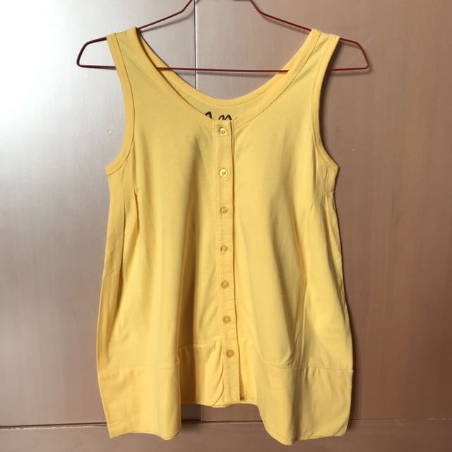 W for Hardware Yellow Sleeveless Top