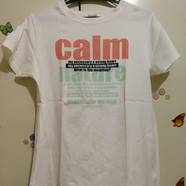 White  tshirt/ M-L