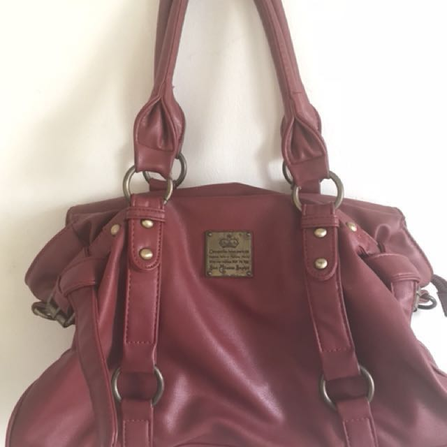 Womens Leather Red Bag