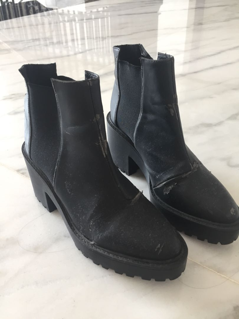 Worned Out H&M Divided Black Boots