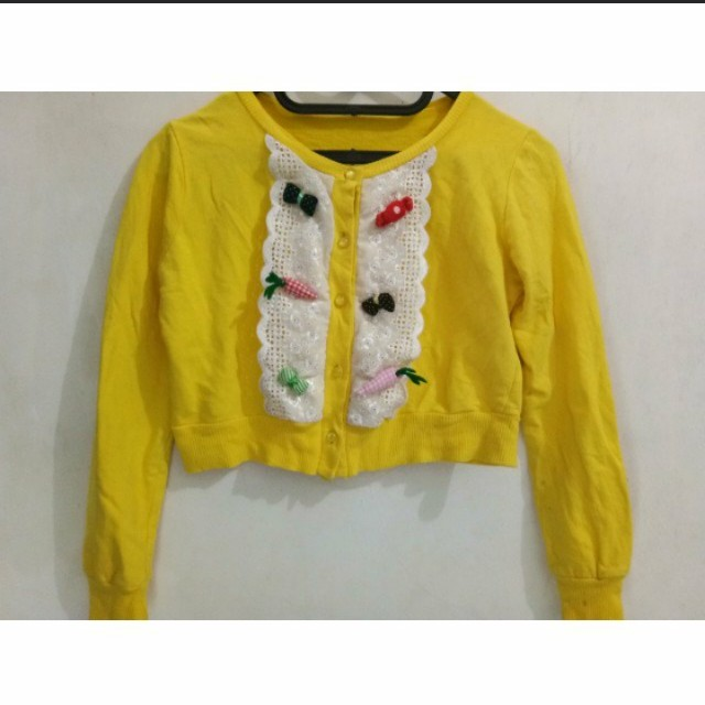 Yellow Candy Cardigan